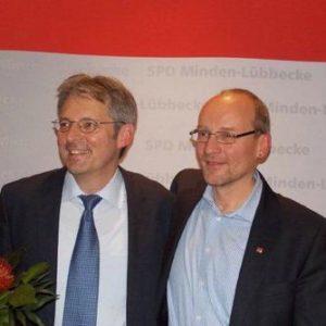 Achim Post mit den SPD UB-Vorsitzenden Michael Buhre nach der Wahl. Bild: SPD